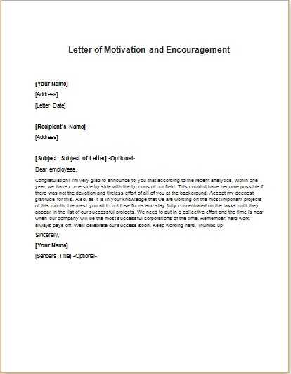 Motivation Letter | Motivation Letter Sample, Examples, Motivation