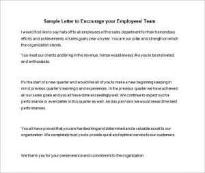 Sample Motivation Letter for Employees