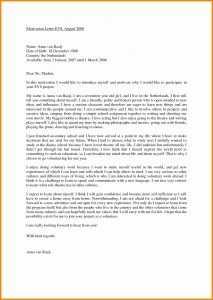 Motivation Letter Example For Job