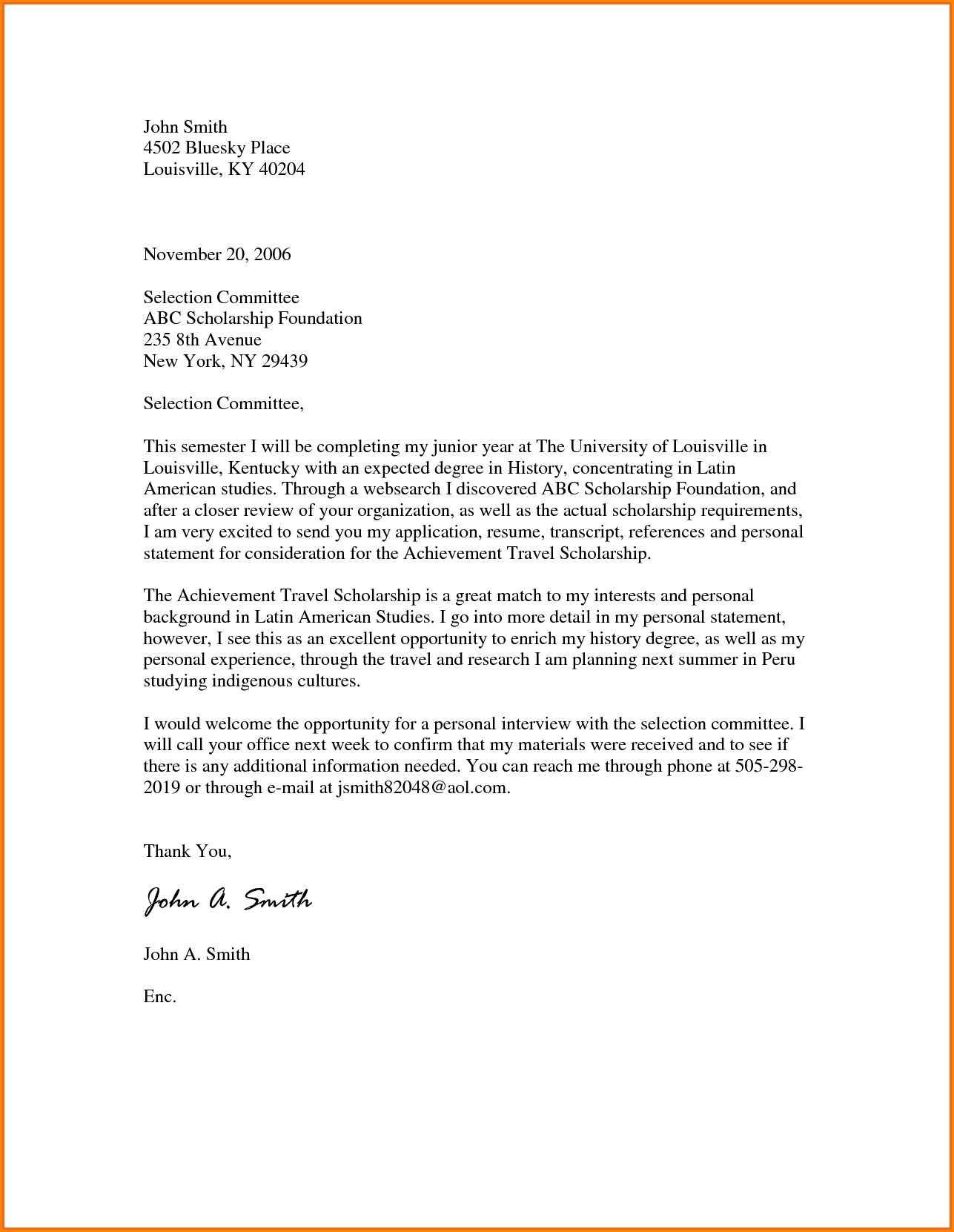 Sample of Motivation Letter for Master Degree Scholarship PDF
