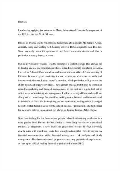 Get Motivation Letter For MBA Free Template | Motivation Letter